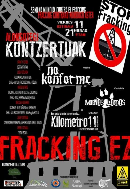 No al Fracking en Euskal herria