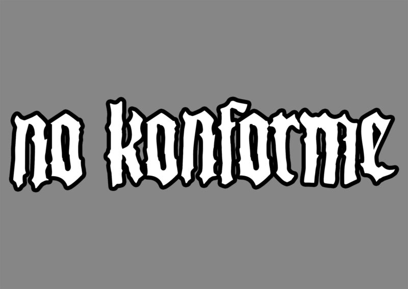 No Konforme Logo - Opcion 2 - Blanco Borde Negro