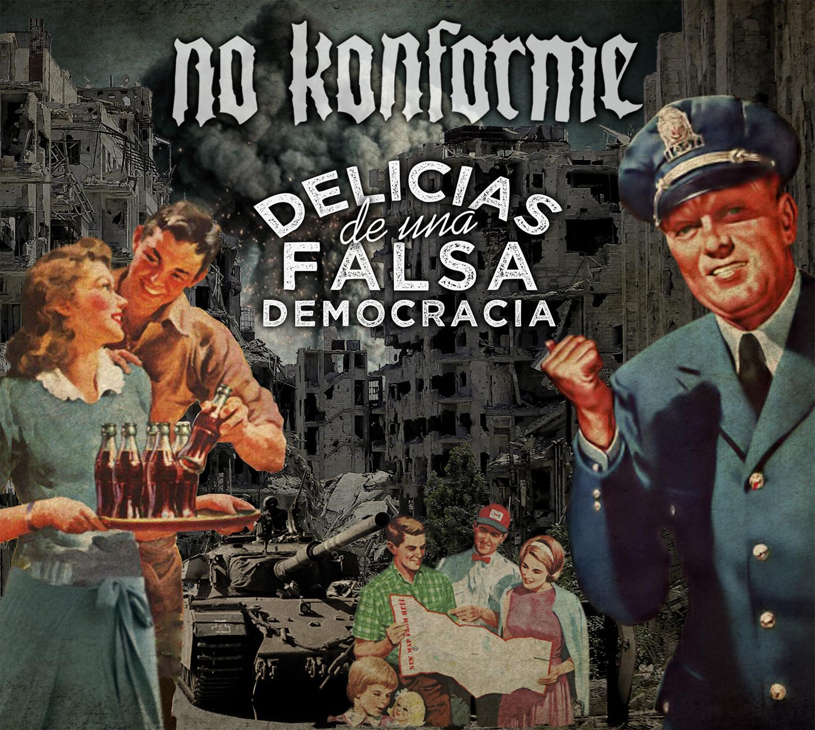 Portada de nuestro tercer disco: Delicias de una Falsa Democracia