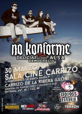 Cartel de Concierto No Konforme: 30 Marzo Carrizo de la Ribera