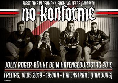 No Konforme van a tocar a Hamburgo
