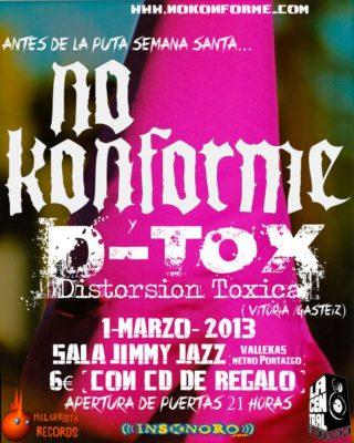 No Konforme + D-Tox en el Jimmy Jazz