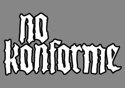No Konforme Logo - Opcion 1 - Blanco Borde Negro
