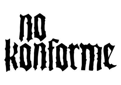 No Konforme Logo - Opcion 1 - Negro
