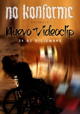 No Konforme presenta nuevo videoclip el 24D 2018. La imagen muestra a Luis en silla de ruedas mientras todo da vueltas a su alrededor
